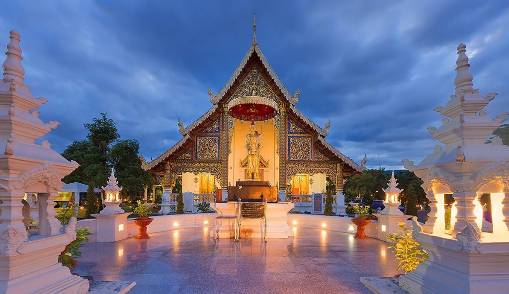 Temple in the Chiang Mai retreat