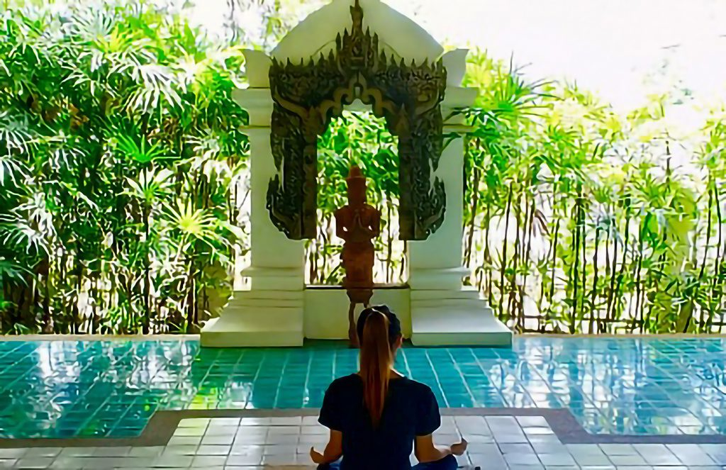 Meditating Woman Yoga
