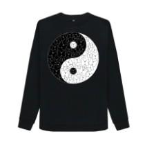 Butterfly yin yang sweatshirt yoga