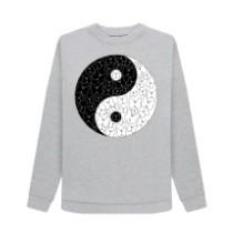 Butterfly yin yang sweatshirt