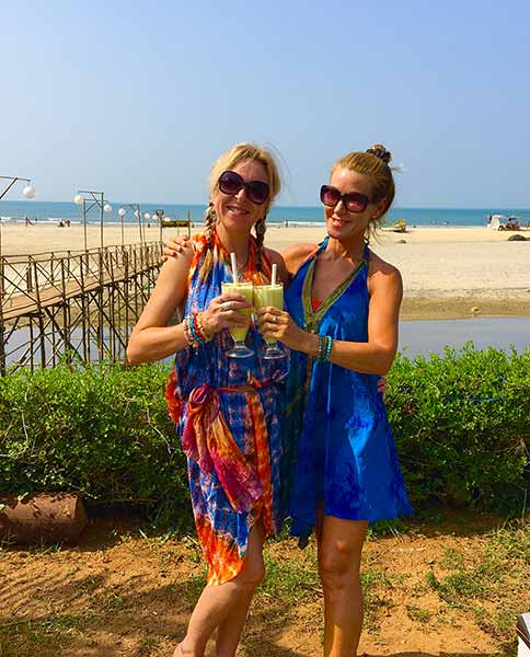 Yoga Retreat Hosts at Lazy Dog Lounge, Beach Street, Mandrem