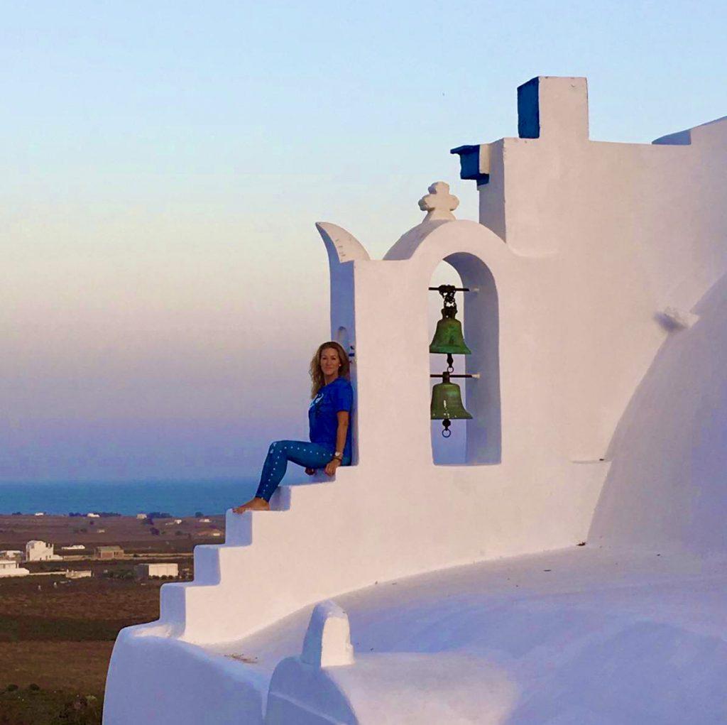 Santorini Greece Yoga